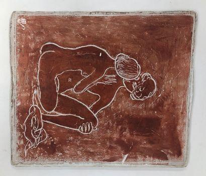 STOERR Edmond (1903-1956)  Couple, plâtre...