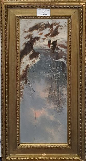 LECOINTE Charles Joseph A. (1824-1886)  Promeneurs...
