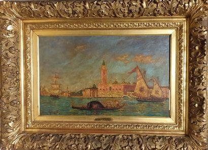 GÉRARD Henry, 1860-1925,  Bateaux à Venise,...