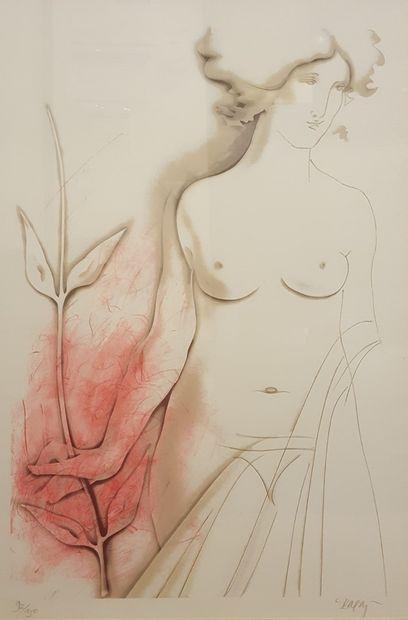 KARAS Christos (né en 1930)  Nu,  Lithographie...