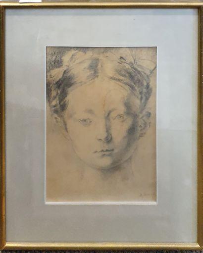 JANNIOT Alfred Auguste (1889-1969)  Tête...