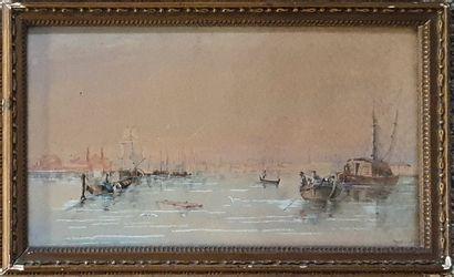 ECOLE XIXème siècle  Vue de venise, 1839...