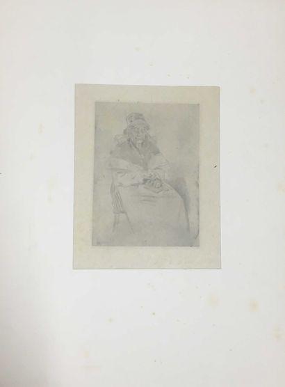 ROPS Félicien, 1833-1898,  La vieille au...