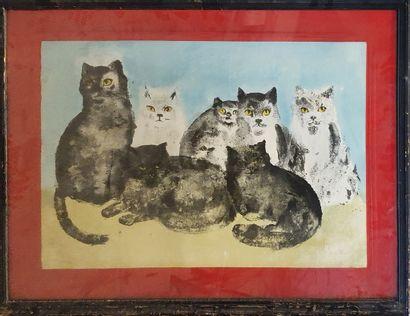 FINI Leonor (1907-1996)  Les chats  Lithographie...