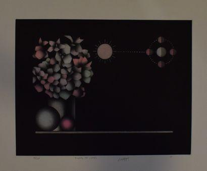 AVATI Mario (1921-2009)    Oeufs,  Lithographie sur papier, signé en bas au milieu,...