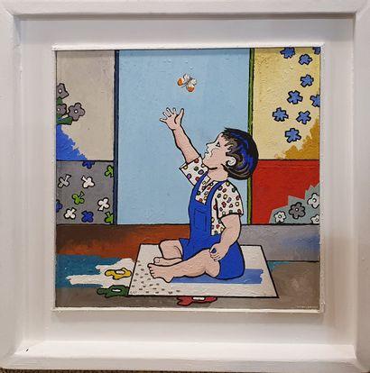 LAFORTUNE Jacky, né en 1946  L'enfant au...