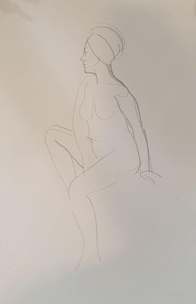 KIS Janos (1932-2017)  N°147  crayon sur...