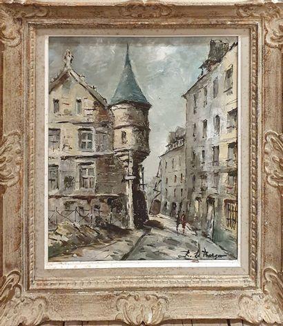 LE BERGER Robert (1905-1972)  Hotel des Sens,...