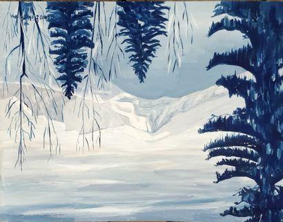 PICHETTE James (1920-1996)  Paysage de Montagne...