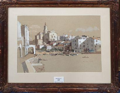HILDER Rowland, 1905-1993,  Cadaques, la...