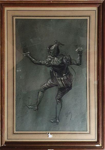 CHÉRET Jules, 1836-1932,  Danseur de dos,...