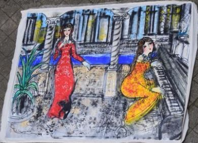 HRASARKOS (né en 1975)  Deux femmes dont...