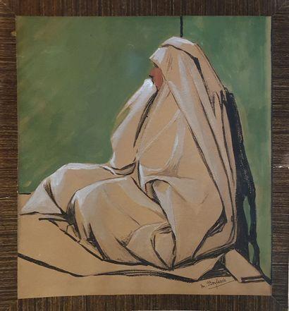 BOYLESVE Marie (XX)  Femme orientale assise...