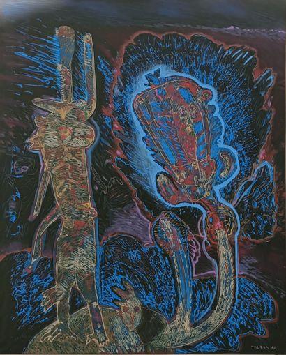 MURUA Mario (né en 1952)  Mythe Egyptien,...