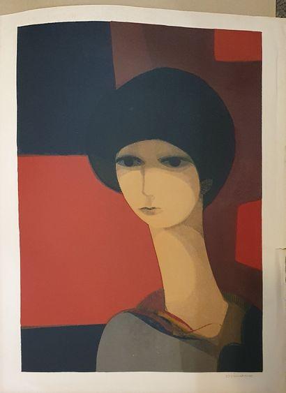 MINAUX André (1923-1986)  portrait de femme...