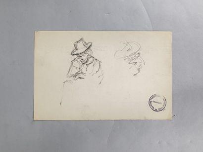 GARIN Paul (1898-1963)  Etudes de personnage...
