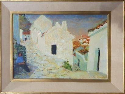 DU JANERAND Daniel (1919-1990)  Village aux...