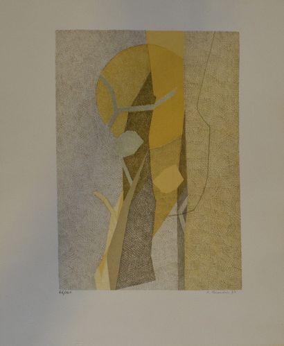 BEAUDIN André (1895-1979)  Composition jaune,...