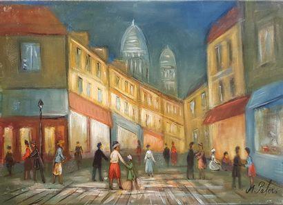 PABOIS Michel (né en 1939)  La nuit à Montmartre...