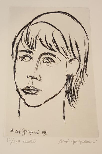 JACQUEMIN André (1904-1992)  Caractère, 1991...