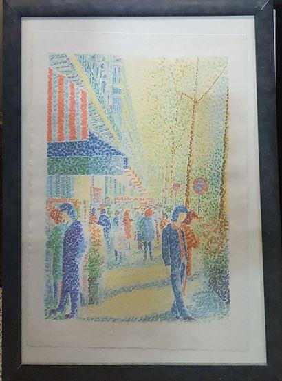 MENDJISKY Serge (1929-2017)  Rue ensoleillée,...