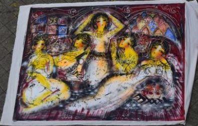 HRASARKOS (né en 1975)  Cinq femmes au harem...