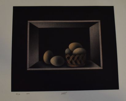 AVATI Mario (1921-2009)    Oeufs,  Lithographie...