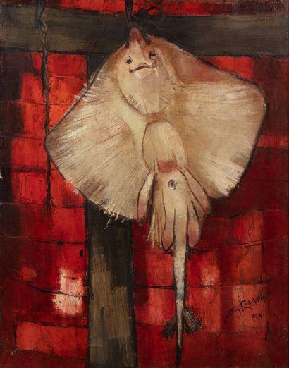GANNE Yves (né en 1931)  La raie, Paris,...