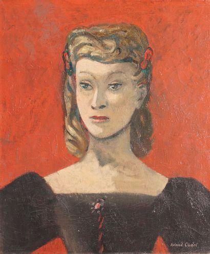 OUDOT Roland, 1897-1981  Jeune femme à la...