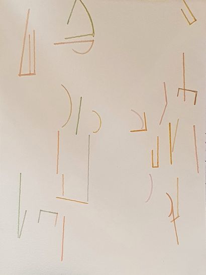 KIS Janos (1932-2017)  N°185  aquarelle sur...