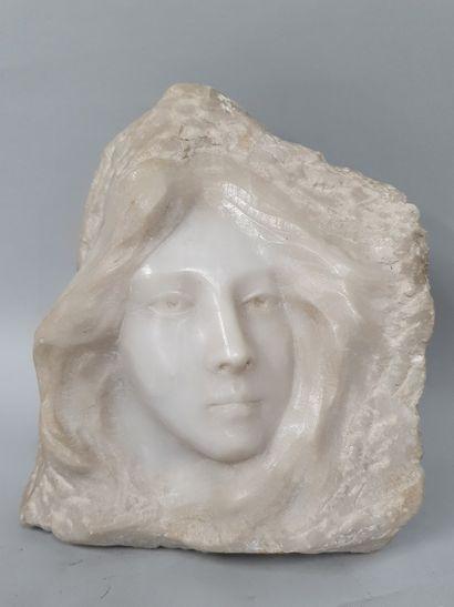 VERONA G (XIX-XXeme)  Visage de femme  bas...