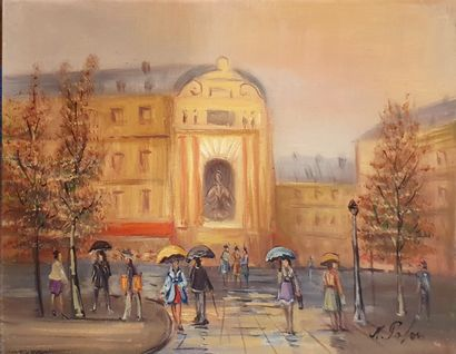 PABOIS Michel (né en 1939)  Place St Michel...