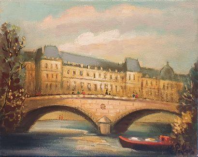PABOIS Michel (né en 1939)  Musée du Louvre...