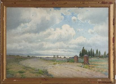 RAYMOND Casimir (1870-1955)  Portail en bord...