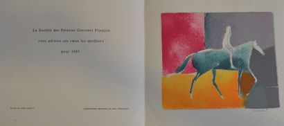 GUIRAMAND Paul (1926-2007)  Cavalier,  Lithographie...