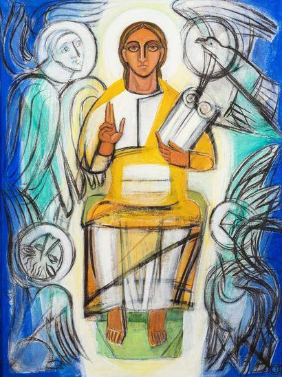 BROGLY Colette, XXe siècle  Christ aux apôtres...