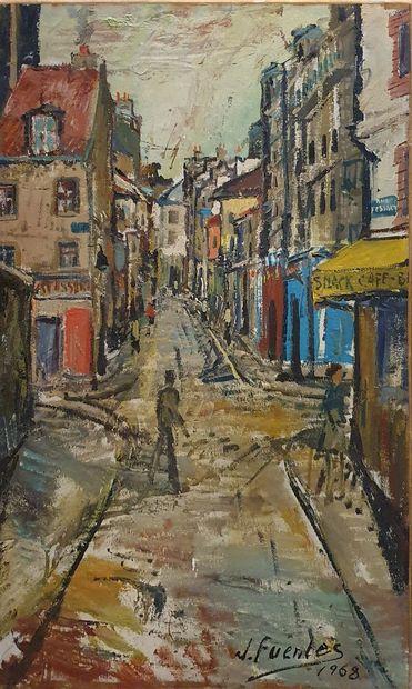 FUENTES J (XXeme-XXIeme)  Rue Fessart, Paris,...