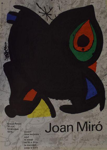 MIRO Joan (1893-1983)  Affiche pour l'exposition...
