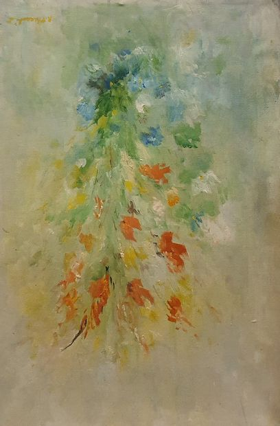 ECOLE MODERNE [ R. THERALIS ??]  Fleurs champêtres...