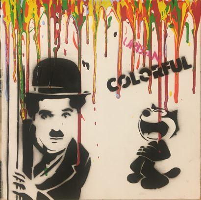 NOBODY, né en 1989,  Charlie Chaplin, 2019,...