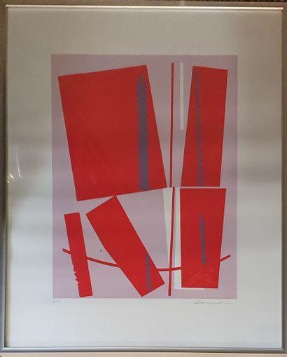 LOEWER Claude (1917-2006)  Paire de lithographies...