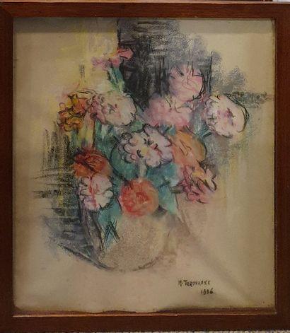 TEROUANNE M.(XXeme)  Le bouquet de Pivoines,...