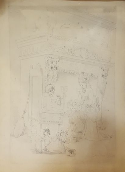 SAINT-ELME Gauthier 1849-?  Famille devant...