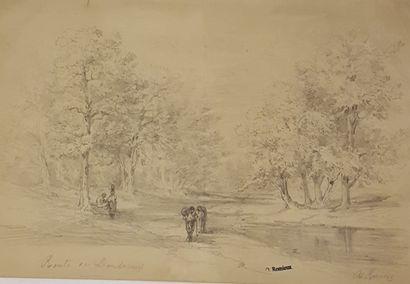 ROMIEUX Osmond (1826-1908)  Ensemble de 6...