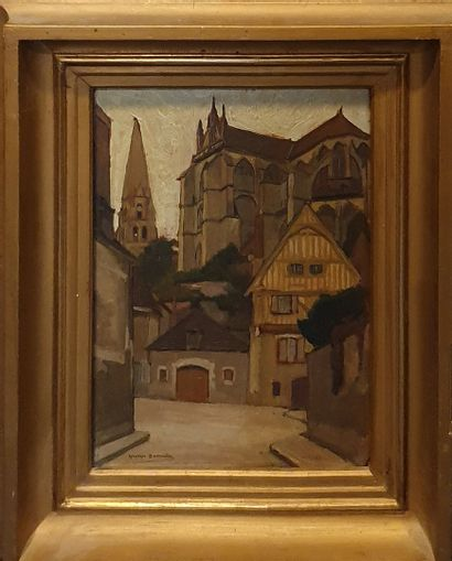 BARRIERE Georges (1881-1944)  Auxerre  Huile...