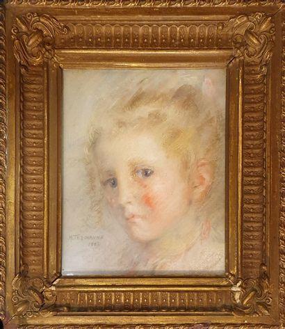 TEROUANNE M.(XXeme)  Portrait de jeune fille...
