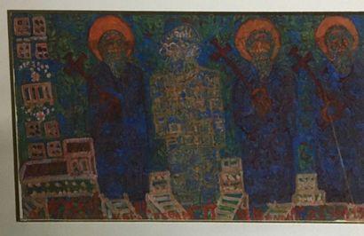 PEDZIKIS Nicos Gabriel, 1908-1993,  Les saints...