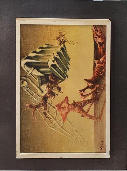 HAUS Rudolf (1897-1977)  Pont de fer  Huile...