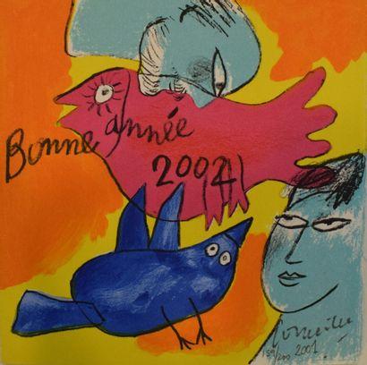 CORNEILLE (1922-2010)  Bonne année 2002,...