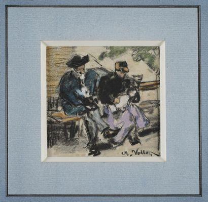 VOLLON Antoine, 1833-1900  Deux paysannes...